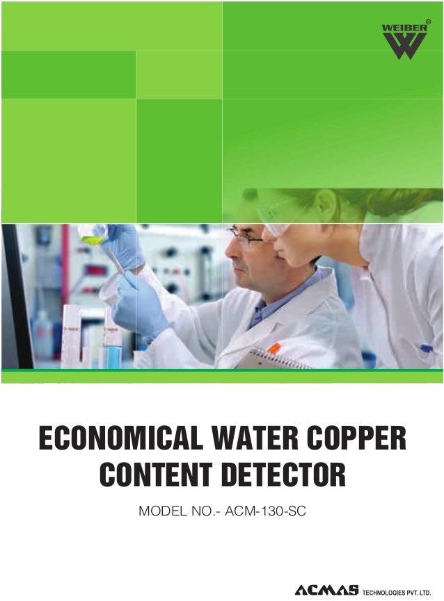 R  ECONOMICAL WATER COPPER CONTENT DETECTOR MODEL NO.- ACM-130-SC