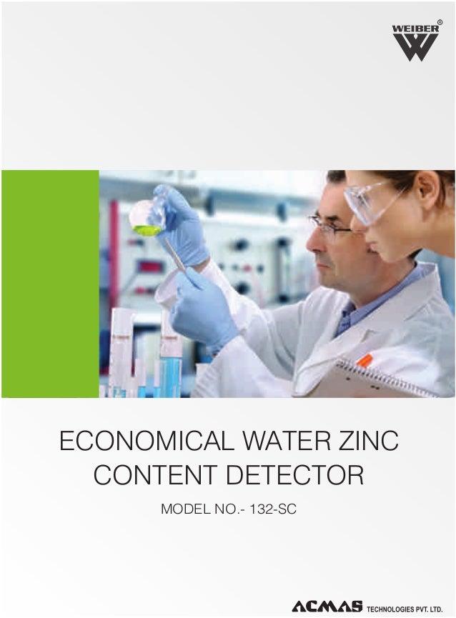 R  ECONOMICAL WATER ZINC CONTENT DETECTOR MODEL NO.- 132-SC