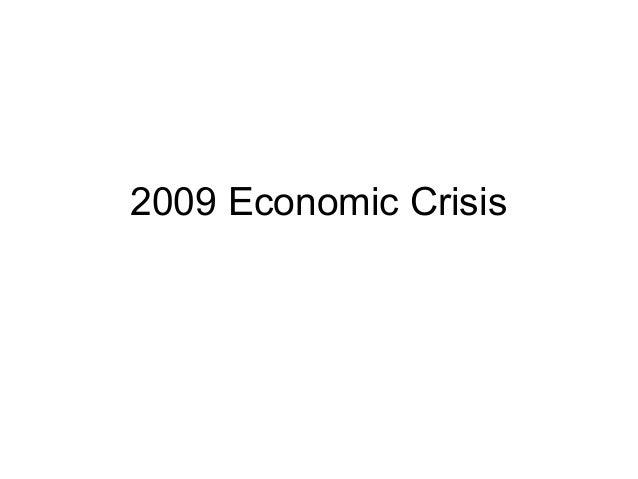 2009 Economic Crisis