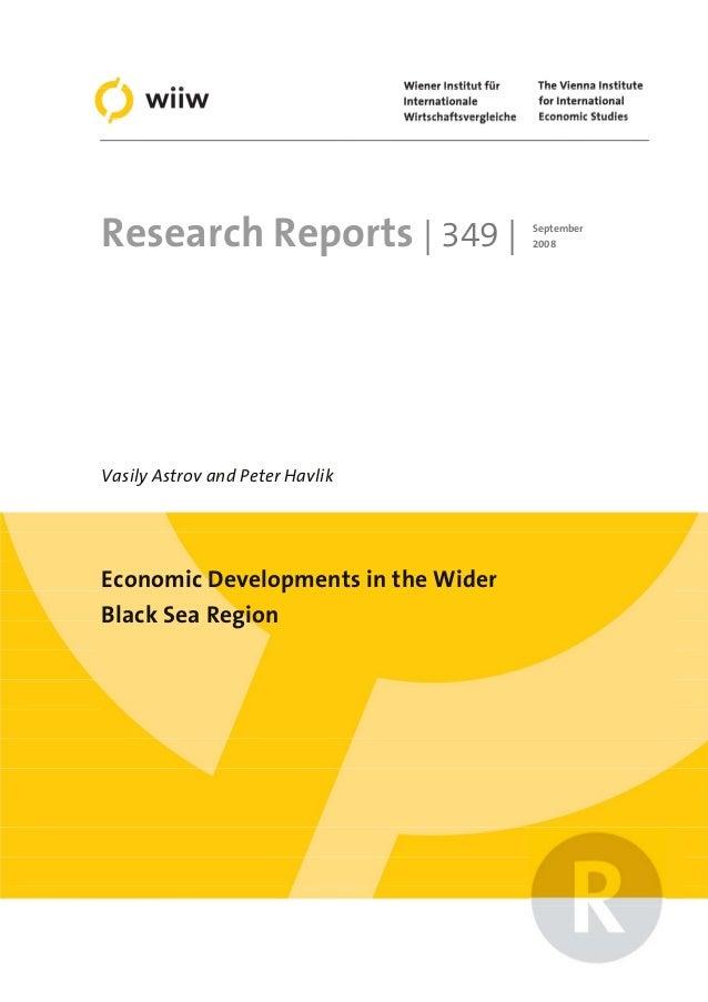 Economic developments in the wider black sea region