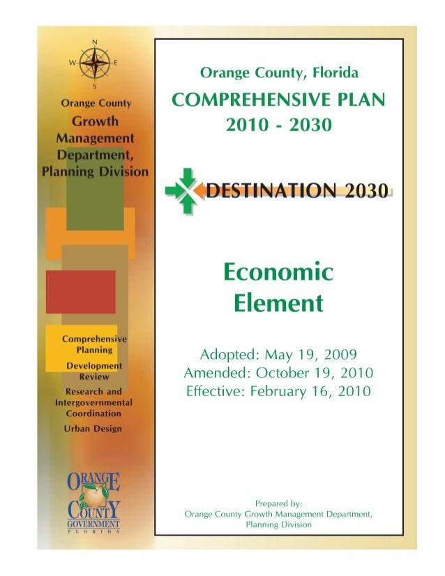 Orange County Economic Element