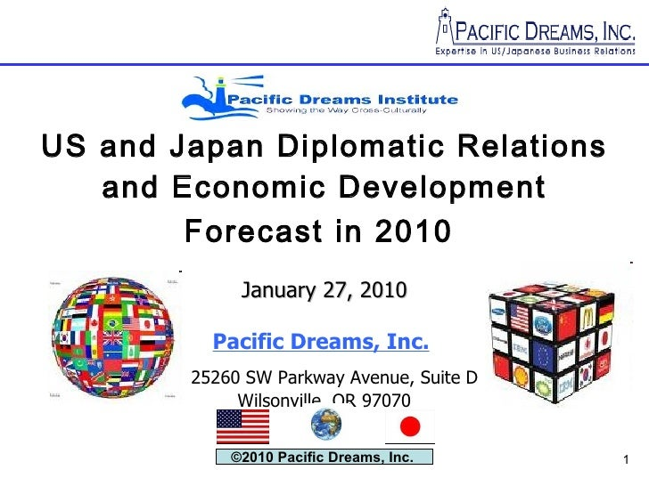 US and Japan Diplomatic Relations and Economic Development Forecast in 2010   January 27, 2010 Pacific Dreams, Inc.     25...