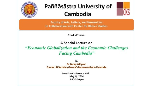 Paññāsāstra University of Cambodia Faculty of Arts, Letters, and Humanities In Collaboration with Center for Khmer Studies...