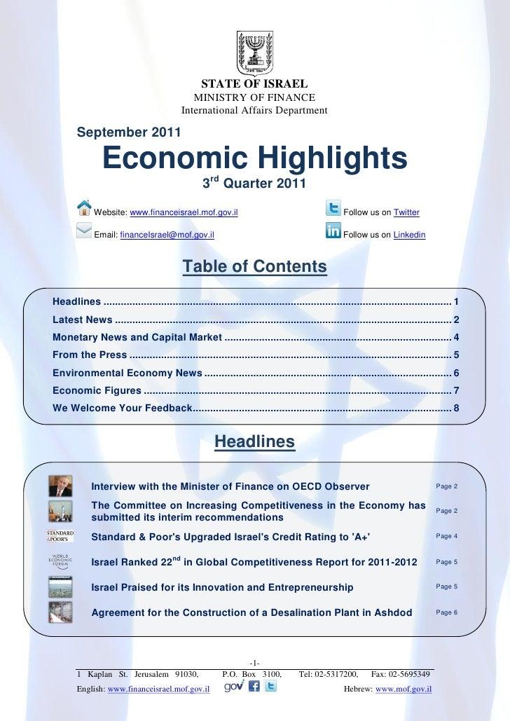 Economic Highlights Newsletter, Q3 2011