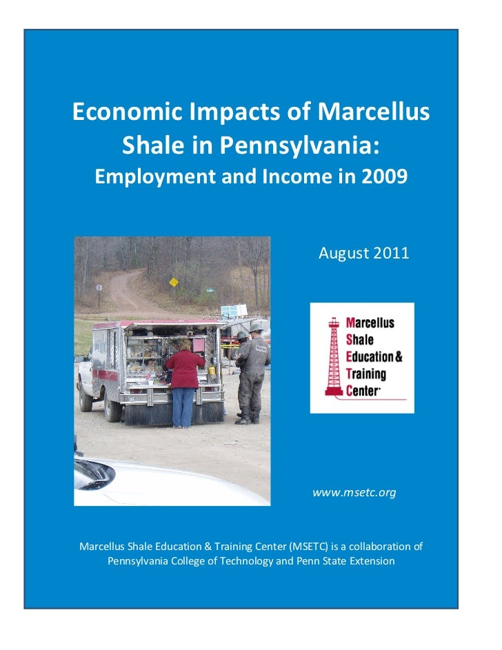 Economic Impacts of Marcellus Shale in Pennsylvania: Employment and Income in 2009