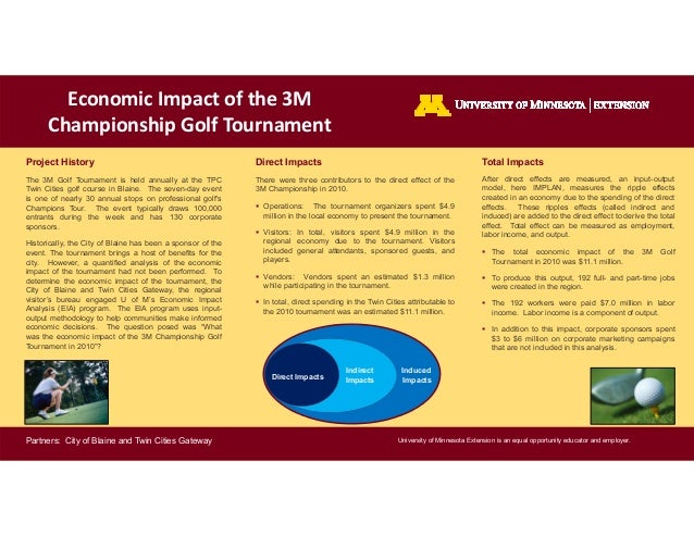 University of Minnesota Extension is an equal opportunity educator and employer.Economic Impact of the 3MChampionship Golf...