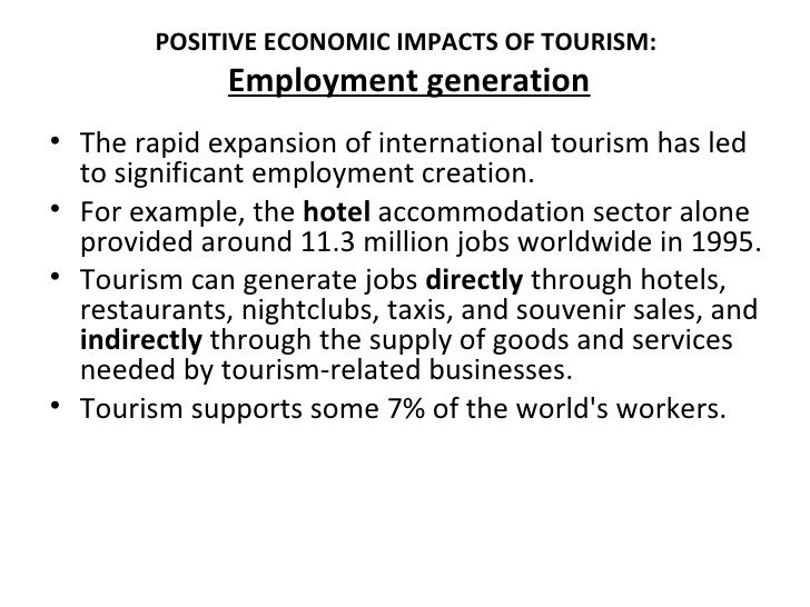 economic benefits of tourism in developing countries