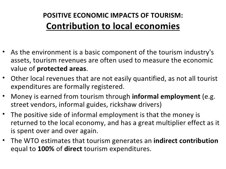 positive effectrs of tourism in the