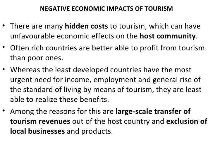 positive and negative impact of tourism