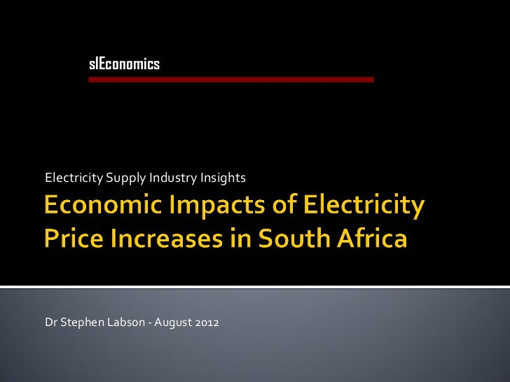 slEconomics       Economics Consulting in Utilities and InfrastructureElectricity Supply Industry InsightsDr Stephen Labso...