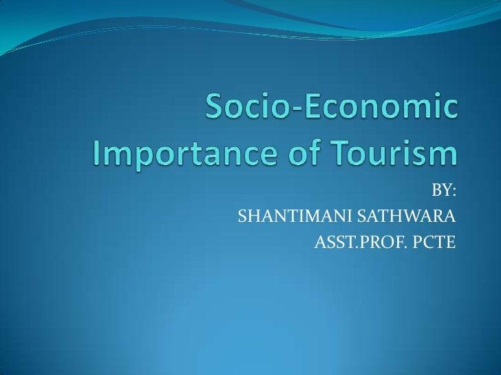Economic importance of tourism
