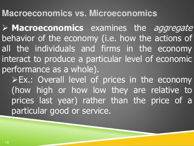Discuss the issues of aggregation in macro economics?