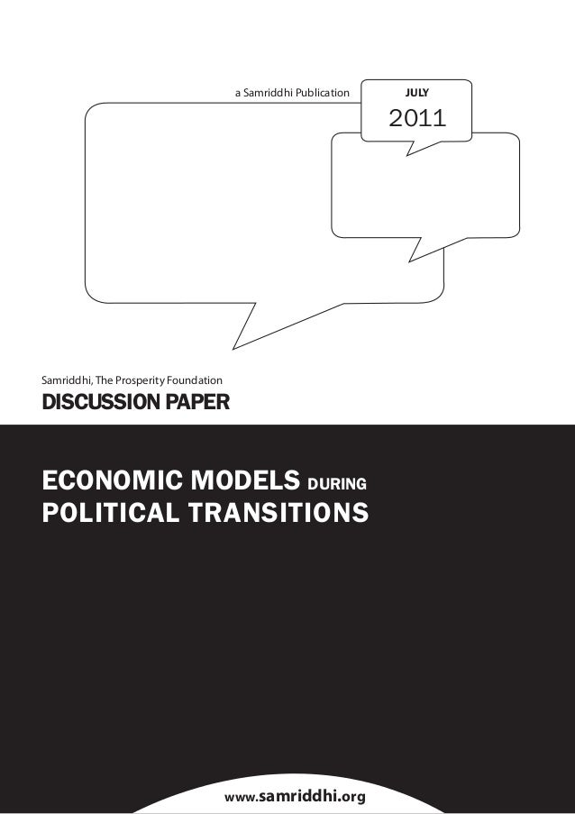 Economic models during political transitions