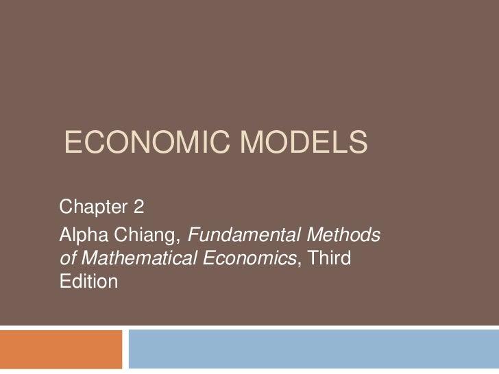 Economic modelschaptern 2