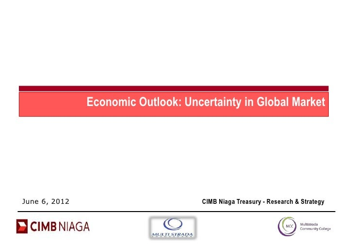 Economic Outlook: Uncertainty in Global MarketJune 6, 2012                         CIMB Niaga Treasury - Research & Strategy