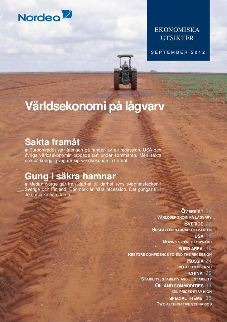Ekonomiska Utsikter, september 2012 (SE)