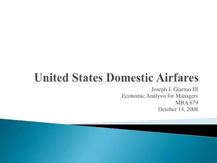 Economic Regression Analysis Presentation