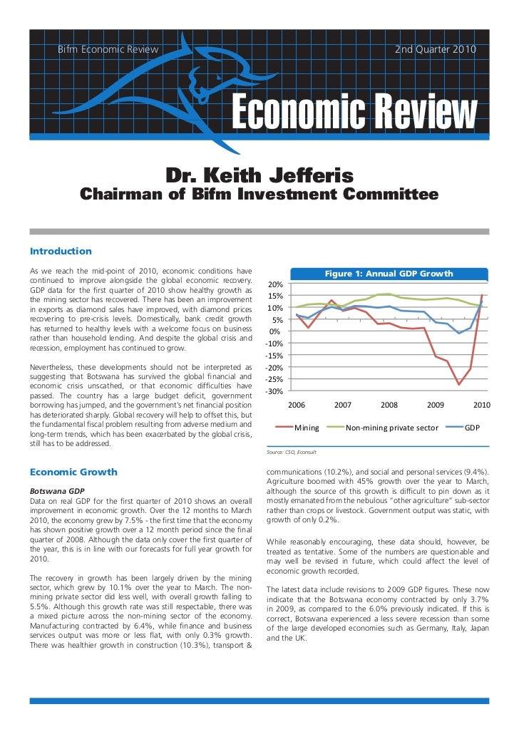 Bifm Economic Review                                                                                       2nd Quarter 201...
