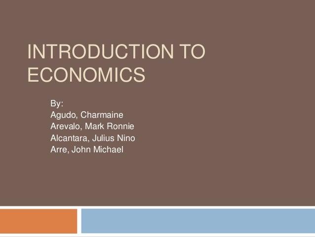 Overview of Economics