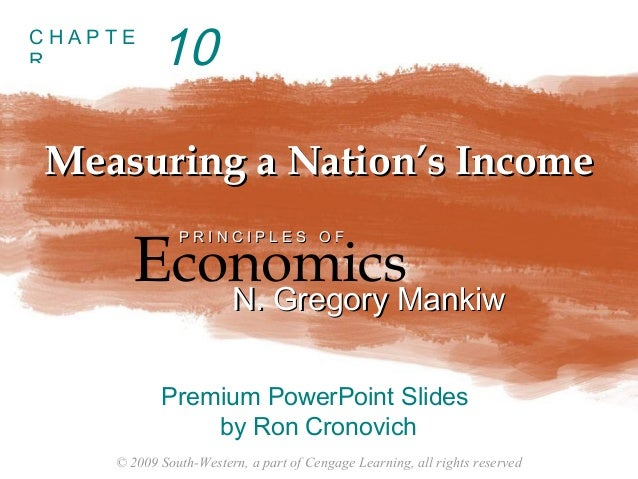 © 2009 South-Western, a part of Cengage Learning, all rights reserved C H A P T E R Measuring a Nation's IncomeMeasuring a...