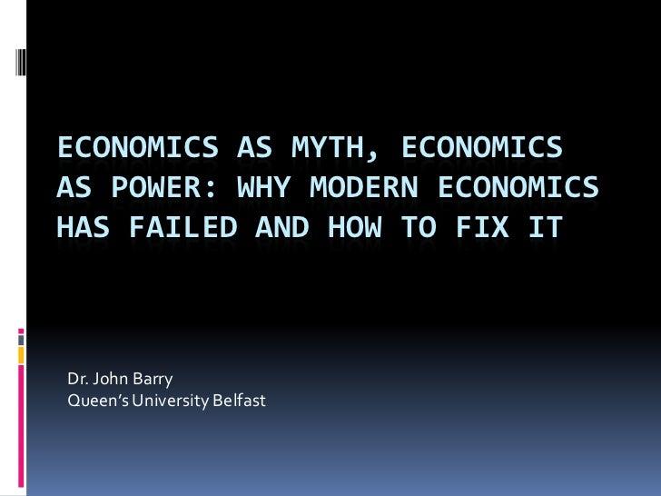 Economics as myth__economics_as_power