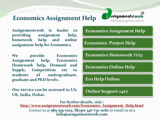Economics help at Assignment Expert is effective because we provide you with