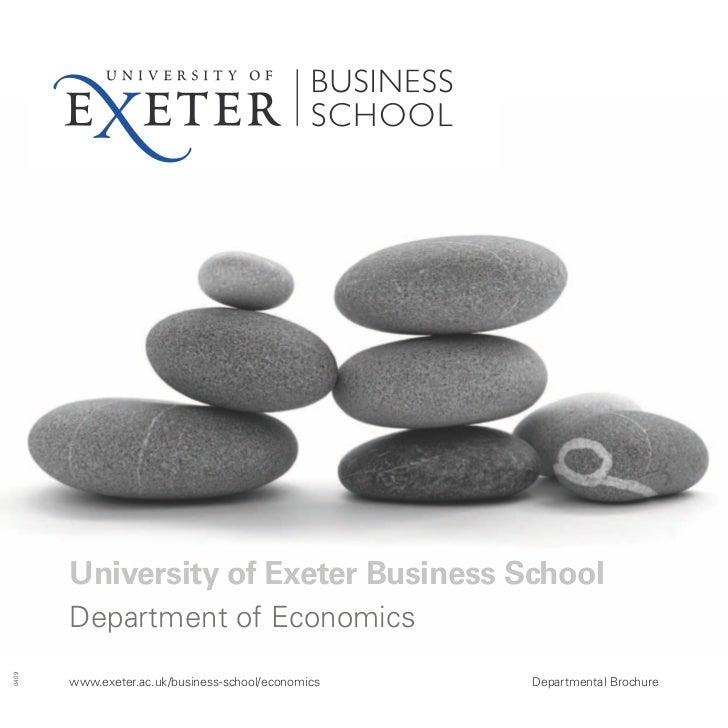 Economics brochure - University of Exeter Business School