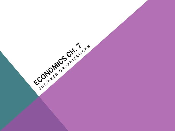 Economics chapter 7