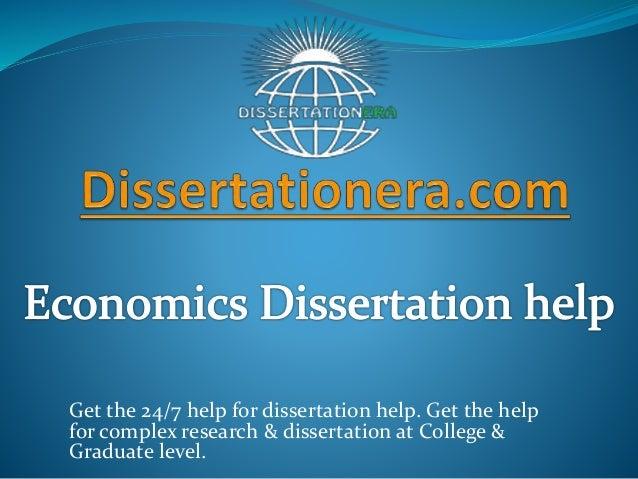 Dissertation economics