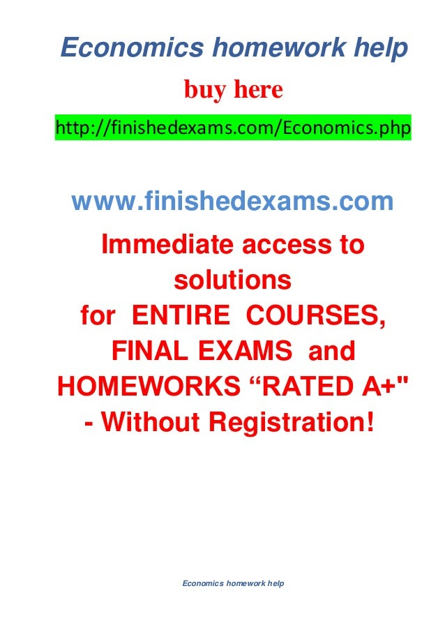 Economics homework helpbuy herehttp://finishedexams.com/Economics ...