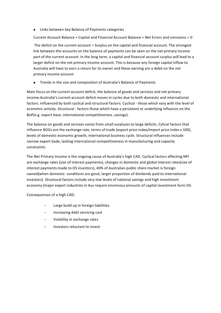Balance of payments hsc essay