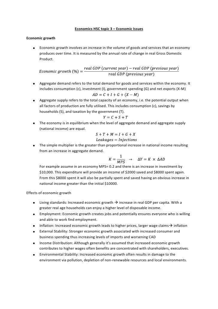 Economics Essay Structure Hsc