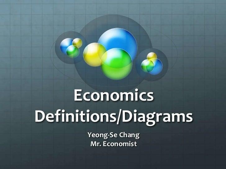 Economics Definitions/Diagrams<br />Yeong-Se Chang<br />Mr. Economist<br />