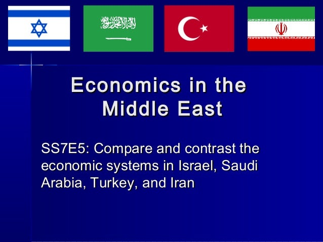 Economics in the Middle East SS7E5: Compare and contrast the economic systems in Israel, Saudi Arabia, Turkey, and Iran