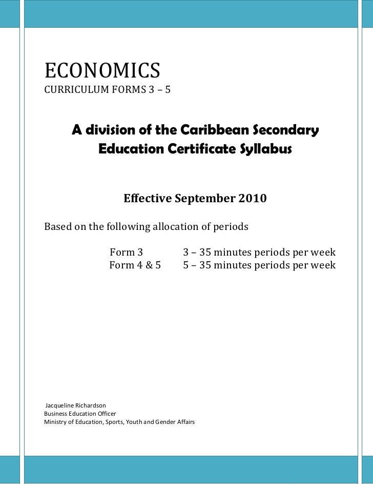 Economics outline