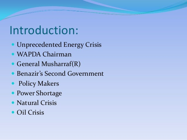essay on shortage of electricity in pakistan Energy crisis in pakistan for many people, aware of the man's growing dependence on fuel as a source of energy had to change their view points in 1973 when opec (oil and petroleum exporting countries) halted their supply of oil, though commonly it is known as oil shock, but it helped coining a new phrase called energy crisis.