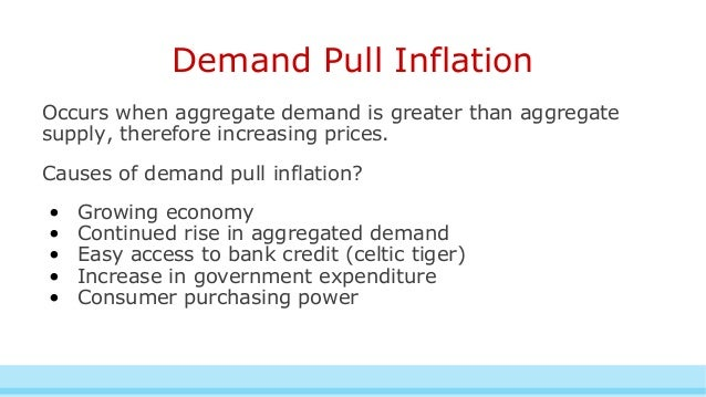 What is the difference between cost-push and demand-pull inflation?