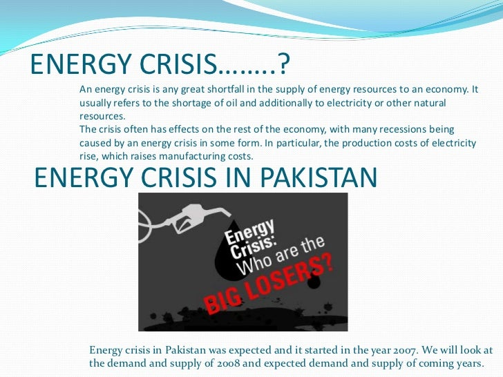 Research paper on energy crisis in pakistan pdf