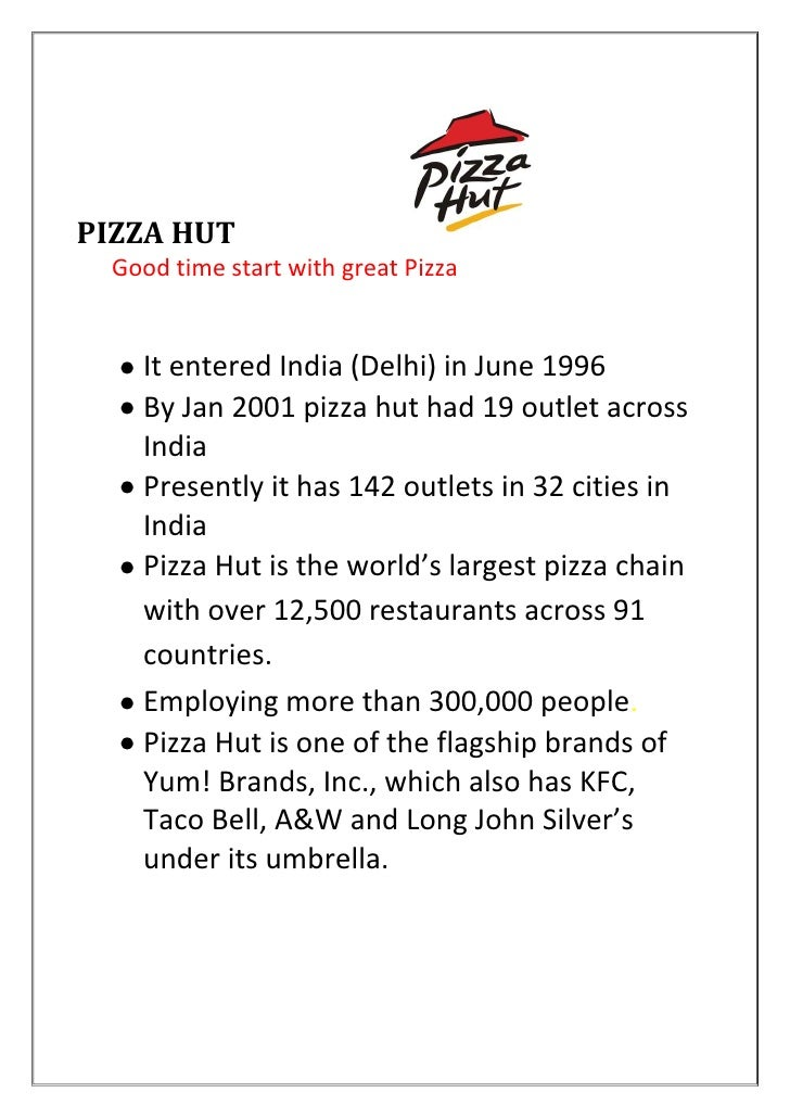 supply chain management pizza hut vs domino This is the most important for food chain like pizza hute the kitchen assistants are trained accordinglyquality management of pizza hut to ensure rigid international bench-marks in the quality of the products the services at all its restaurants across the world.