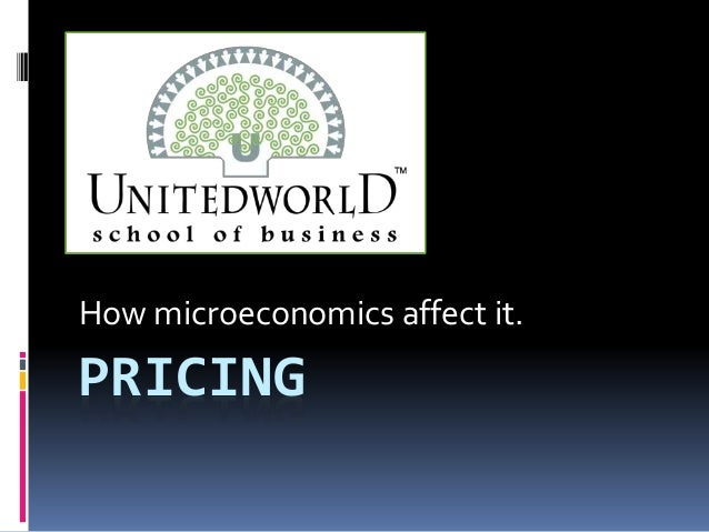 PRICING How microeconomics affect it.