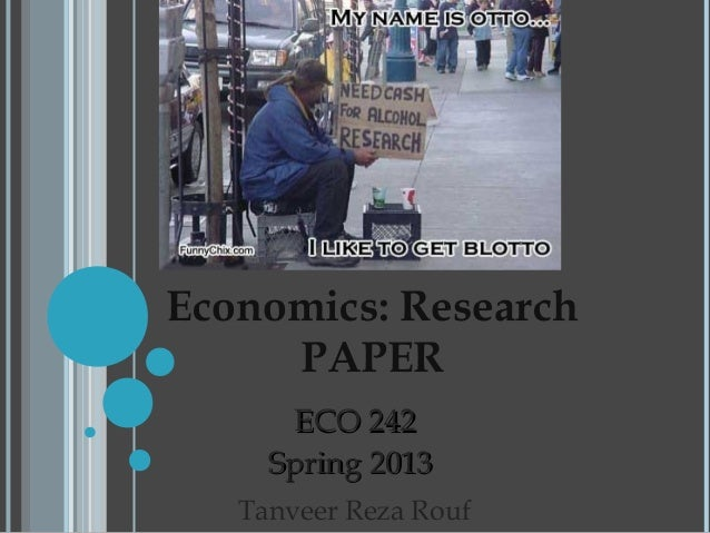 Research paper of economics
