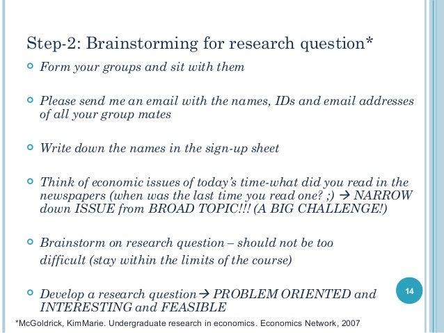 write econometric research paper