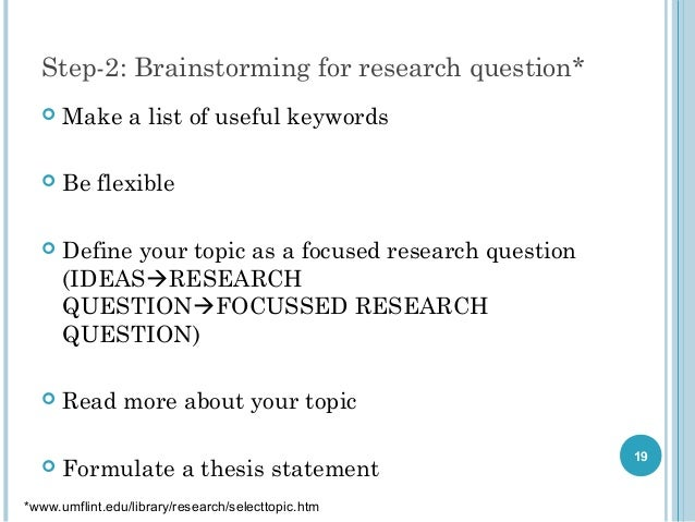 Question about writing a research paper?