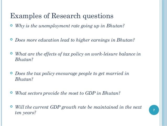 good research question topics