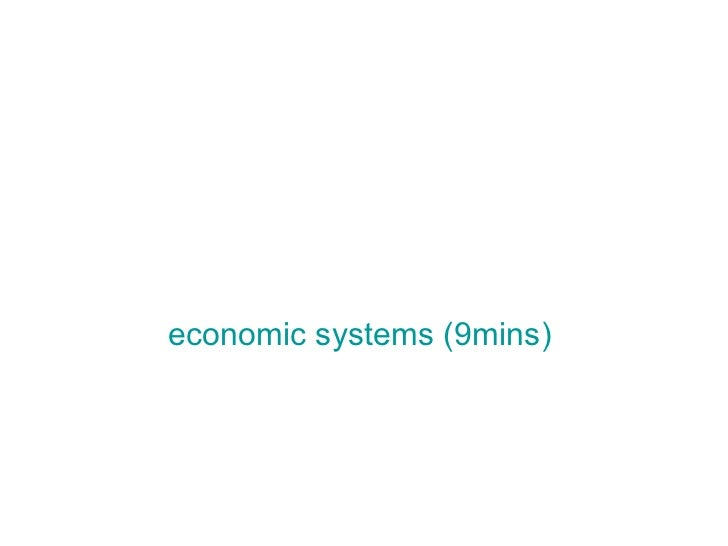 Economic systems factors of production