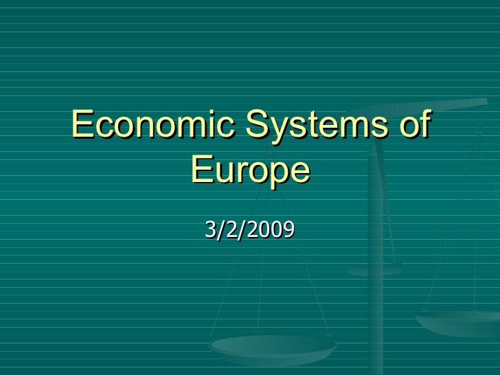 Economic systems of europe