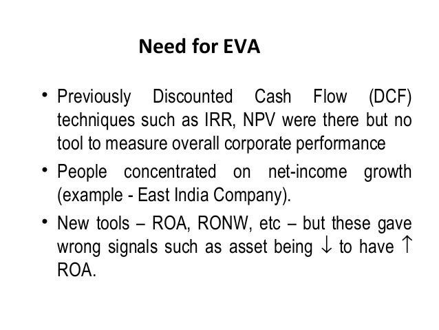 enterprise value added eva Calculation and trend analysis of comcast's enterprise value (ev), total company value minus the value of cash and investments  economic value added (eva).