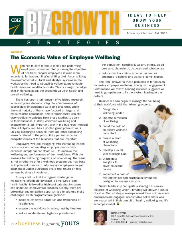 The Economic Value of Employee Wellbeing