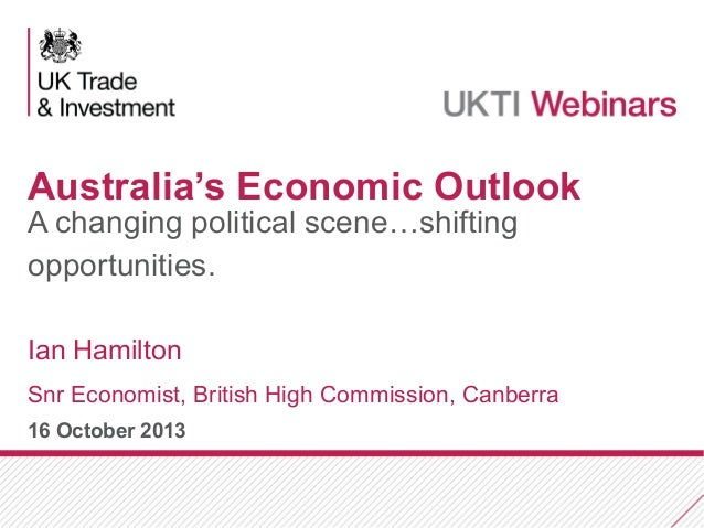 Australian economic and political update for British companies: October 2013