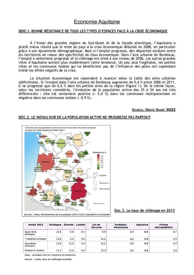 Economie Aquitaine ! !  DOC.1. BONNE RÉSISTANCE DE TOUS LES TYPES D'ESPACES FACE À LA CRISE ÉCONOMIQUE !!  À l'instar des ...